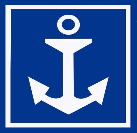 ship anchor: Anchor sign
