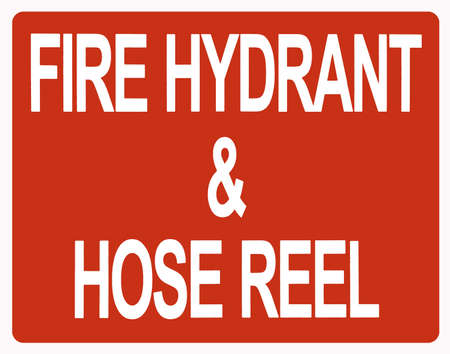 extinguishers: Fire hydrant sign