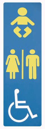 Restroom sign disabled Stock Photo - 6125003
