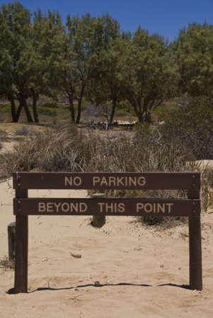 No Parking in the dunes.