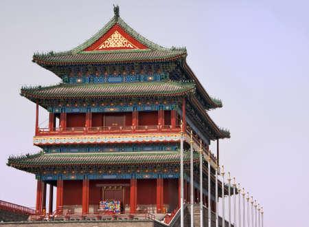 Beijing Tiananmen Temple. Stock Photo