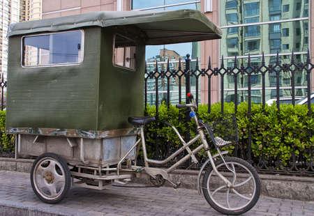 Beijing bike taxi.