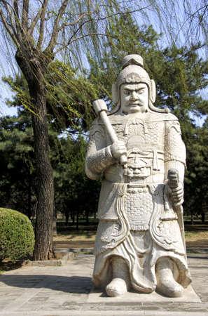 Ming Tombs: standbeeld van krijger.