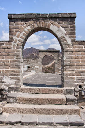 Great Wall: view through a double window.