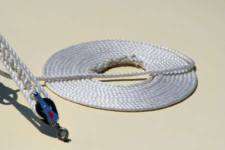 Brisbane: rope on deck of sailing ship.