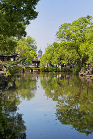 Suzhou: inside one of the gardens.