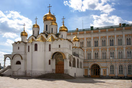 Church of the Annunciation in front of office buildings at the Kremlin. photo
