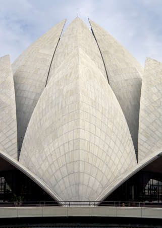 Shells or leaves of the lotus roof on Bahai temple in New Delhi. Editorial