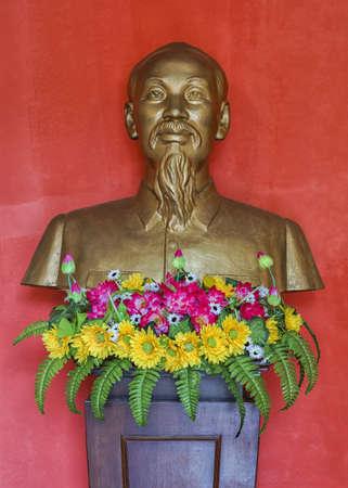 베트남 꽝빈 (Quang Binh) 성 : 호치민의 흉상. 에디토리얼