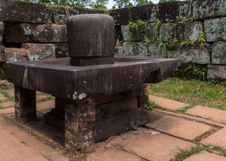 linga: Vietnam, Linga in the Yoni at My Son Cham Sanctuary