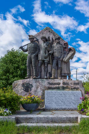 The statue remembers the lost province ceded to Russia in 1944. Editorial