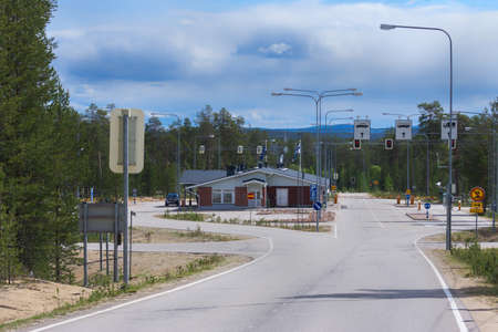 iron curtain: View from Lapland into Russia.
