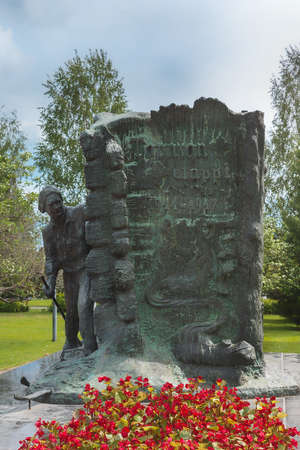 Jaeger Movement statue remembering the independence war from Russia of 1914-1917.
