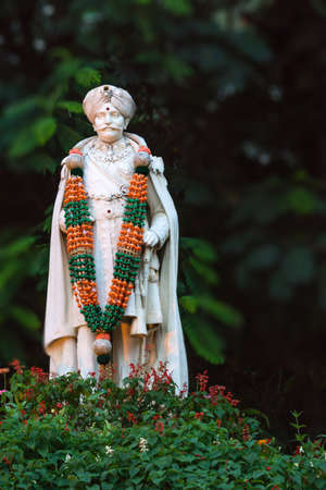 maharaja: Statue of Chama Raja Wadiyar the 10th in Bangalore  He was the ruling Maharaja of Mysore kingdom between 1881 and 1894  Bengaluru was part of that kingdom  The statue is in Cubbon Park  Stock Photo