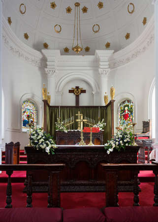 Chancel and altar of the Anglican Saint Mark s Cathedral in Bengaluru