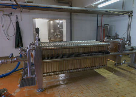 brew house: Brew kettle at Brewery  Het Sas  in Boezinge, Belgium