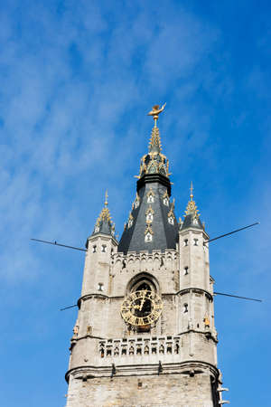 gulden: Top section of the Ghent Belfry