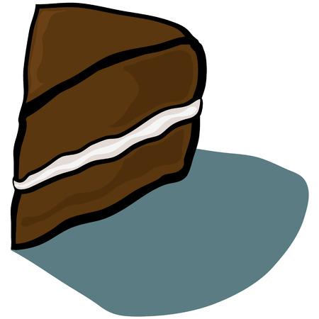 cake slice: Cute cartoon Cake Slice