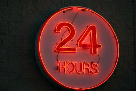 Neon Sign Open 24 hours