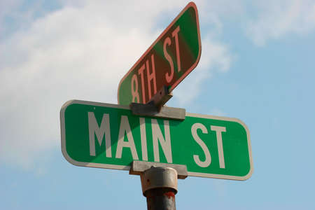 main street: Main Street  Archivio Fotografico