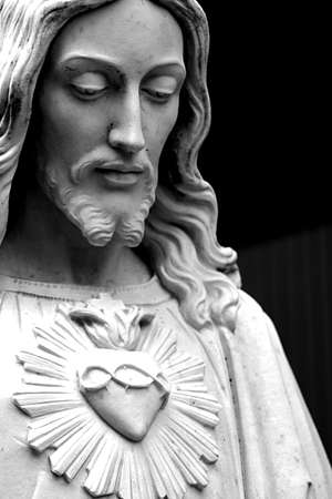 Jesus black and white Stock Photo