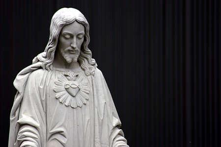 Jezus zwart-wit Stockfoto