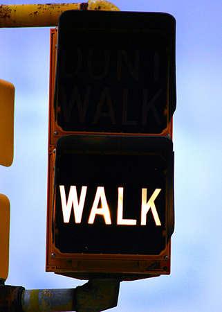 crosswalk: Walk Stock Photo