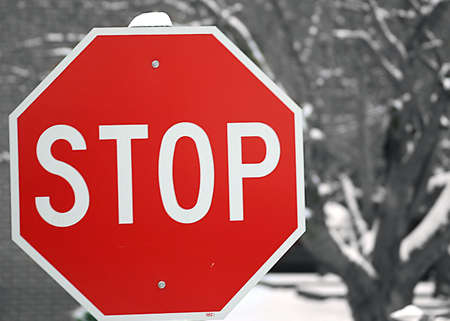 Stop Sign, Selective Color