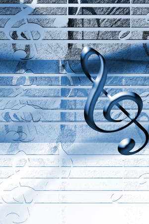 publicity: Blue Music background