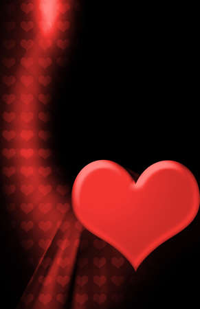 romance: Red Heart Valentines Day Background Stock Photo