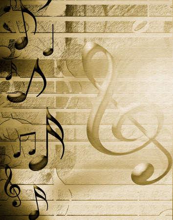sheet music: Golden Musical Background
