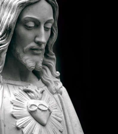 sacre coeur: Gros plan de J�sus  Banque d'images
