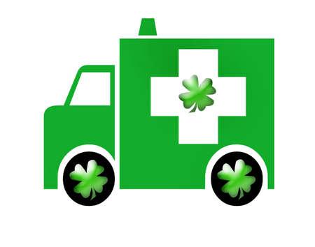 Irish Ambulance, Saint Patrick's Day Stock Photo - 2606343