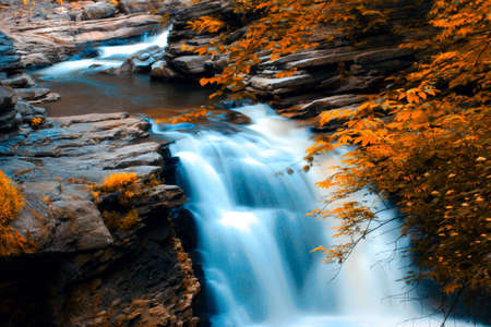 Fall Waterfall Scene