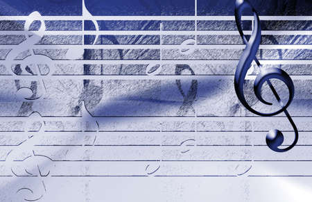 Blue Music Achtergrond Stockfoto