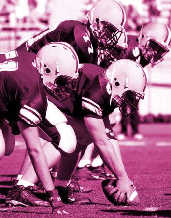 linemen: American football linemen