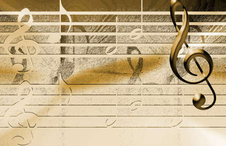 Distressed Music Background Stock Photo