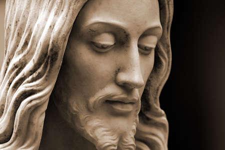 イエス ・ キリストのセピア 写真素材