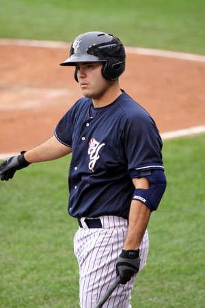스크 랜 튼 윌크스 바레 양키스 타자의 상자에서 스크 랜 튼, 실바에서 2011 년 5 월 24 일에 PNC 필드에서 인디애나 폴리스 인디언과 경기 도중 예수 Montero