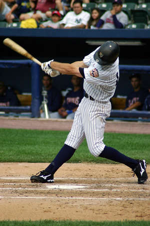 yankees: Scranton Wilkes Barre Yankees batter No. 12 Cody Ransom swings at a pitch against the Columbus Clippers in a game at PNC Field on June 26, 2008 in Scranton, PA