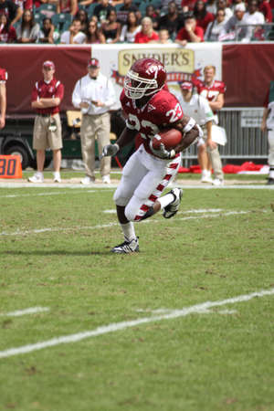 PHILADELPHIA, PA. - SEPTEMBER 26 : Temple Wide Receiver James Nixon #23 breaks away for a touchdown against Buffalo on September 26, 2009 in Philadelphia, PA. Editorial