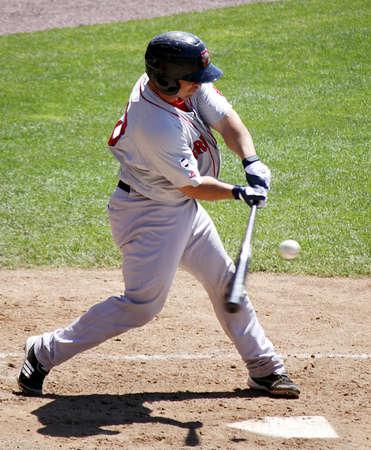 HARRISBURG, PA - MAY 31: Portland Sea Dogs Third baseman Heiker Menses swings at a pitch against the Harrisburg Senators at Metro Bank Park on May 31, 2012 in Harrisburg, PA.