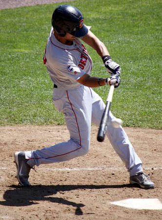HARRISBURG, PA - MAY 31: Portland Sea dogs shortstop Derrick Gibson swings at a pitch against the Harrisburg Senators at Metro Bank Park on May 31, 2012 in Harrisburg, PA.
