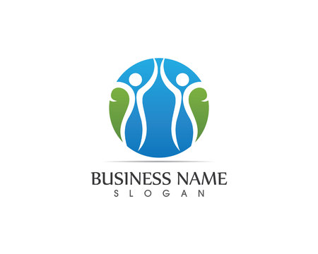 meditation man: Health Care people logo design