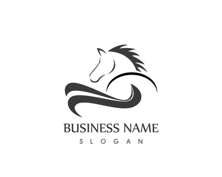 Horse Head Silhouette  Vector design tattoo Logo 向量圖像