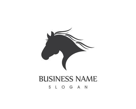 Horse Head Silhouette  Vector design tattoo Logo Illustration