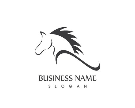 Horse Head Silhouette  Vector design tattoo Logo Vectores