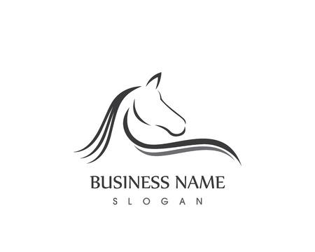 Diseño de vector del logotipo de la silueta de la cabeza de caballo Foto de archivo - 82438314
