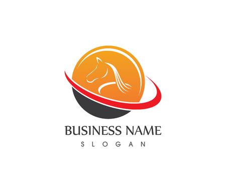 xwhite: Horse Head Silhouette Logo Vector Design