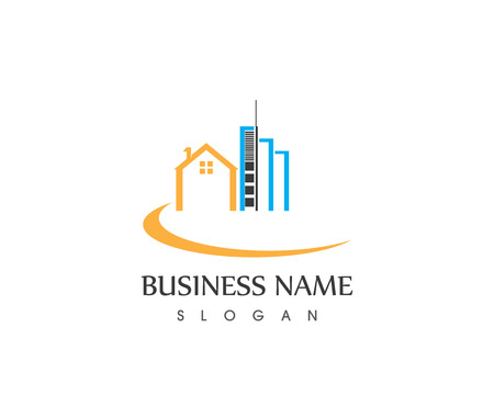 Property Building Home House Logo Design Template